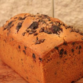 Sour Cherry, Choc Chip and Cocoa Loaf